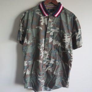 Tommy Hilfiger Camo Short Sleeve Button Up Shirt